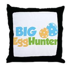 Easter Boy Big Egg Hunter Throw Pillow