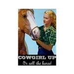 Cowgirl Up Rectangle Magnet