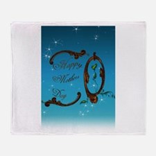 Happy Mothers Day (Blue) Throw Blanket