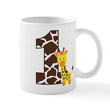 Giraffe 1st Birthday Mug