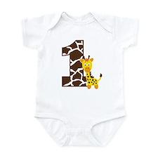 Giraffe 1st Birthday Onesie