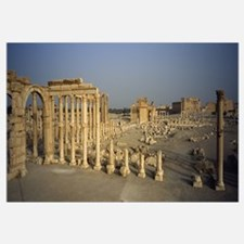 Old ruins of a temple, Temple Of Bel, Palmyra, Syr