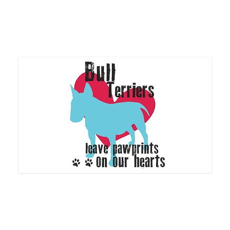 Bull Terrier Pawprints 38.5 x 24.5 Wall Peel