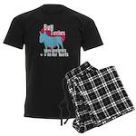 Bull Terrier Pawprints Men's Dark Pajamas