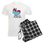 Bull Terrier Pawprints Men's Light Pajamas
