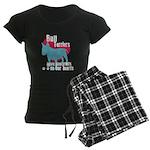 Bull Terrier Pawprints Women's Dark Pajamas