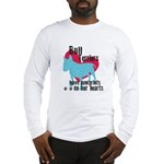 Bull Terrier Pawprints Long Sleeve T-Shirt
