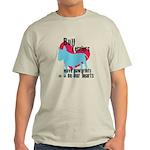 Bull Terrier Pawprints Light T-Shirt