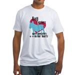 Bull Terrier Pawprints Fitted T-Shirt