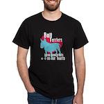 Bull Terrier Pawprints Dark T-Shirt