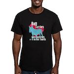 Bull Terrier Pawprints Men's Fitted T-Shirt (dark)