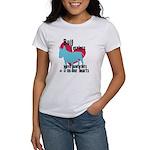 Bull Terrier Pawprints Women's T-Shirt