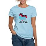 Bull Terrier Pawprints Women's Light T-Shirt