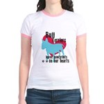Bull Terrier Pawprints Jr. Ringer T-Shirt