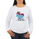 Bull Terrier Pawprints Women's Long Sleeve T-Shirt