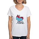 Bull Terrier Pawprints Women's V-Neck T-Shirt