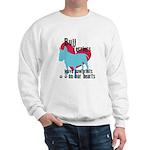 Bull Terrier Pawprints Sweatshirt