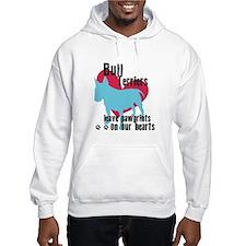 Bull Terrier Pawprints Hoodie