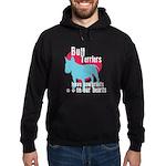 Bull Terrier Pawprints Hoodie (dark)