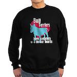 Bull Terrier Pawprints Sweatshirt (dark)