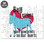 Bull Terrier Pawprints Puzzle