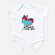 Bull Terrier Pawprints Infant Bodysuit