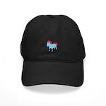Bull Terrier Pawprints Black Cap