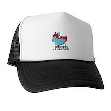 Bull Terrier Pawprints Trucker Hat