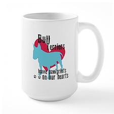 Bull Terrier Pawprints Mug