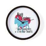 Bull Terrier Pawprints Wall Clock