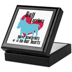 Bull Terrier Pawprints Keepsake Box