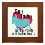 Bull Terrier Pawprints Framed Tile