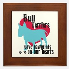 Bull Terrier Pawprints Framed Tile