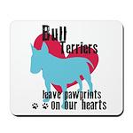 Bull Terrier Pawprints Mousepad