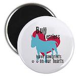 Bull Terrier Pawprints Magnet