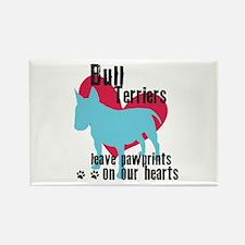 Bull Terrier Pawprints Rectangle Magnet (100 pack)