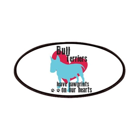 Bull Terrier Pawprints Patches