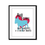 Bull Terrier Pawprints Framed Panel Print
