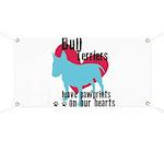 Bull Terrier Pawprints Banner
