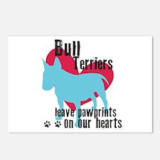 Bull Terrier Pawprints Postcards (Package of 8)
