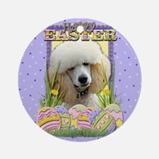 Easter Egg Cookies - Poodle Ornament (Round)