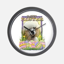 Easter Egg Cookies - Poodle Wall Clock