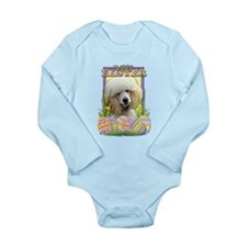 Easter Egg Cookies - Poodle Long Sleeve Infant Bod