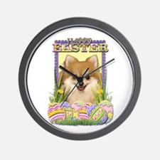 Easter Egg Cookies - Pom Wall Clock