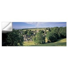 High angle view of a village, Snowshill, Cotswolds Wall Decal