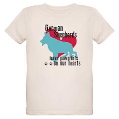 German Shepherd Pawprints T-Shirt