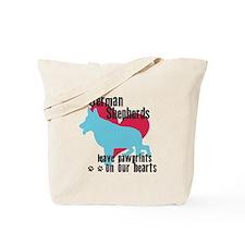 German Shepherd Pawprints Tote Bag