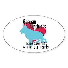 German Shepherd Pawprints Decal