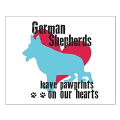 German Shepherd Pawprints Posters