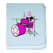 Girl Drummer baby blanket